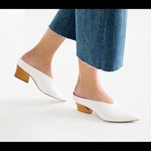 Make an offer! Zara white slide mules